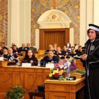 Mircea Cărtărescu la decernarea titlului de Doctor Honoris  Causa -UBB